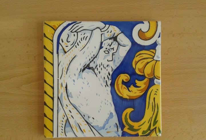 A2 azulejo antiguo modernista mitologia