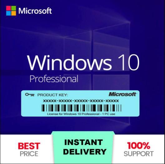 Windows 10 pro - clave instantánea - 100% original - 24h