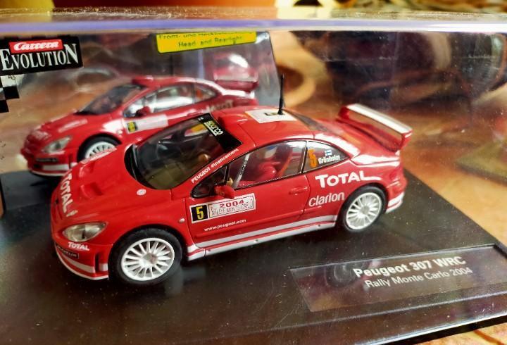 Antiguo coche de rally slot carrera peugeot 307 wrc