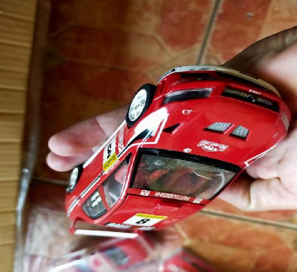 Antiguo coche de rally slot mitsubishi lancer evo vii wrc -