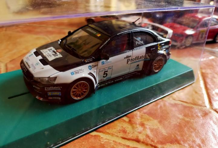 Antiguo coche de rally slot mitsubishi lancer wrc - avant