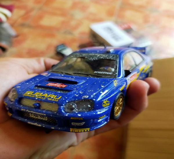 Antiguo coche de rally slot scalextric tecnitoys scx subaru
