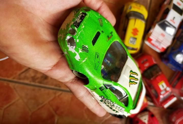 Antiguo coche de rally slot toyota célica - chasis wrc