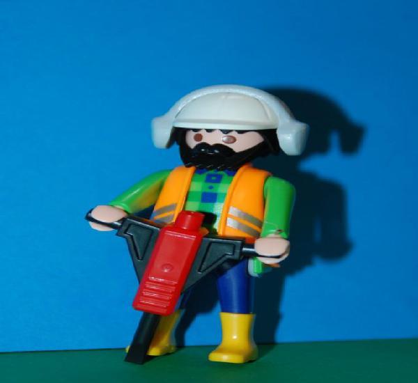 Playmobil serie 6 azul. sobres sorpresa. ref 5458. obrero