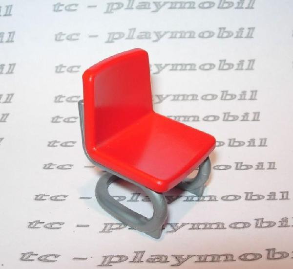 Playmobil silla moderna de oficina ciudad roja y gris