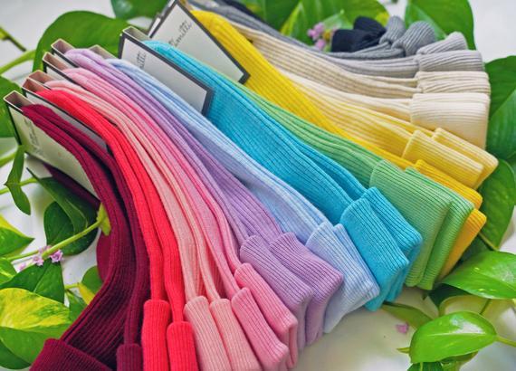 100% organic calcetines de señora de algodón combed. hecho