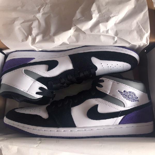 Air jordan 1 mid se purple 41