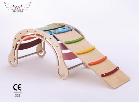 Rocker de color original con rampa para niños, juguete
