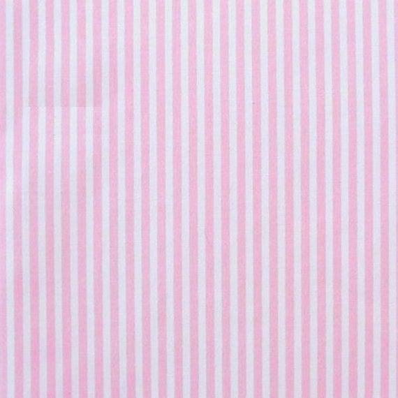 Rosa / blanco - 100% algodón poplin vestido tela material -