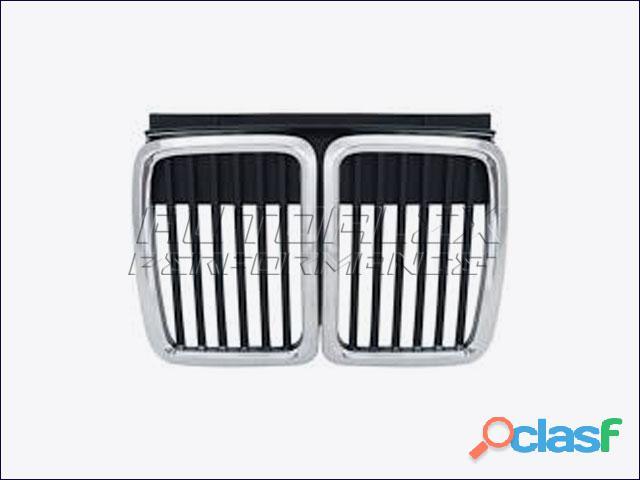 Rejillas Cromo / Negro Delante BMW E30