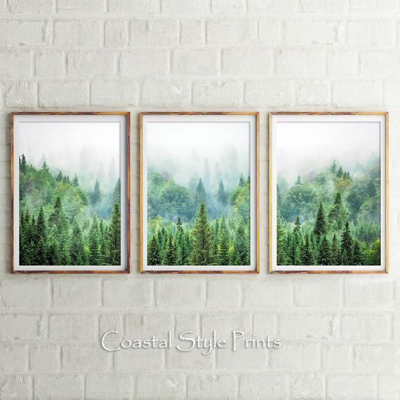 Conjunto de impresión del bosque, impresiones del bosque,