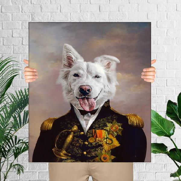 Retrato personalizado del perro, retrato del animal real,