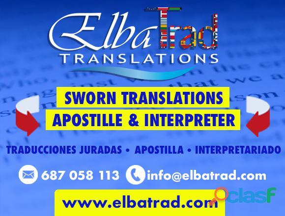 Traducciones juradas y apostilla