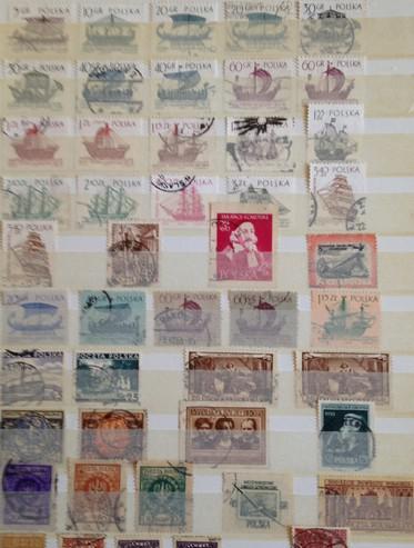 Album de sellos de polonia/alemania