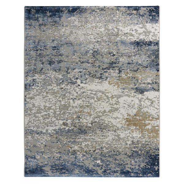Alfombra Canyon 52014 Azul Efecto Abstracto con relieves.