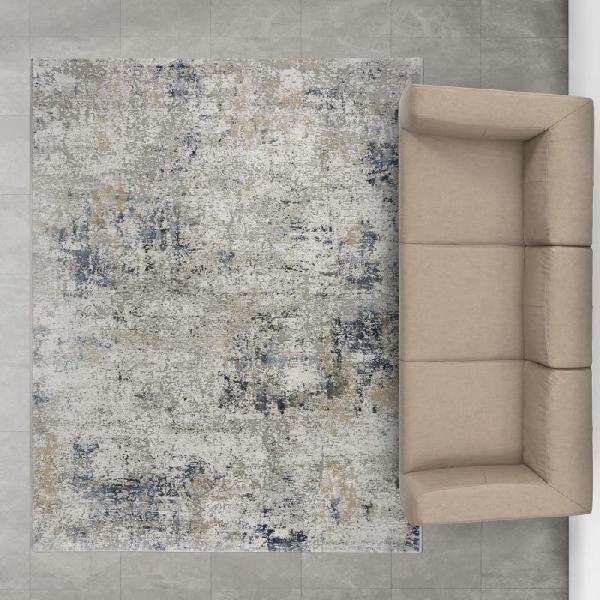 Alfombra Canyon 52029 Azul Efecto Abstracto con relieves