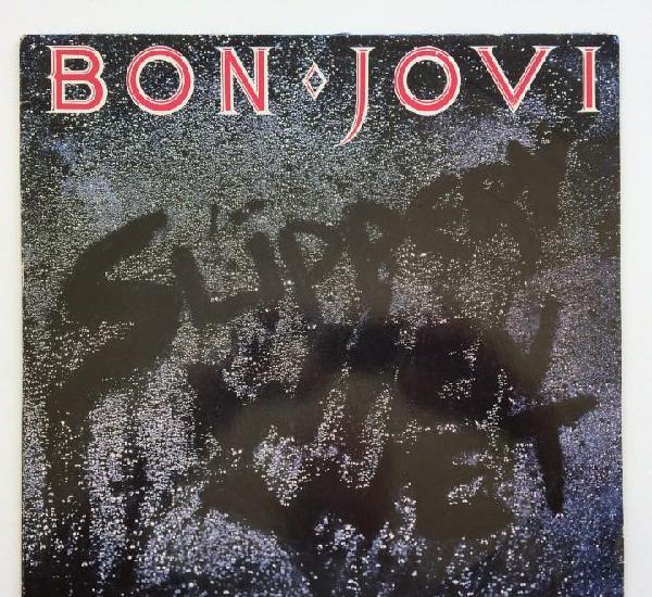 Bon jovi – slippery when wet holanda, 1986 mercury