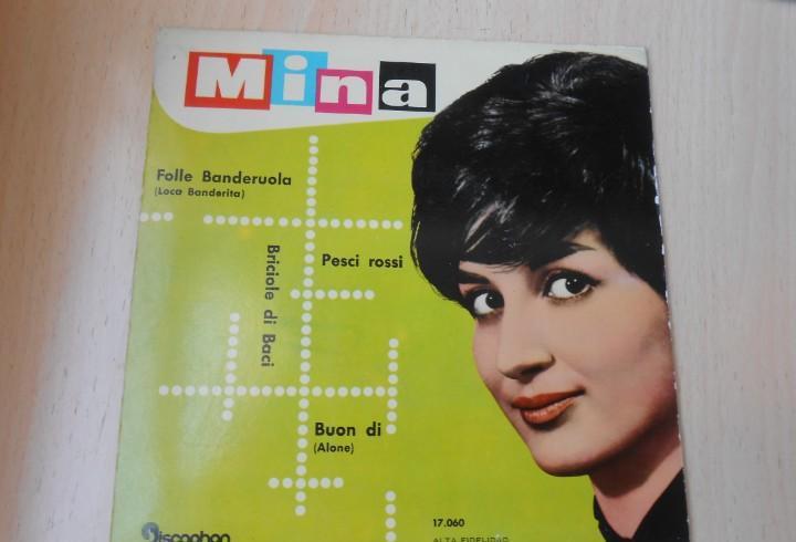 Mina, ep, laca banderita (folle banderuola) + 3, año 1960