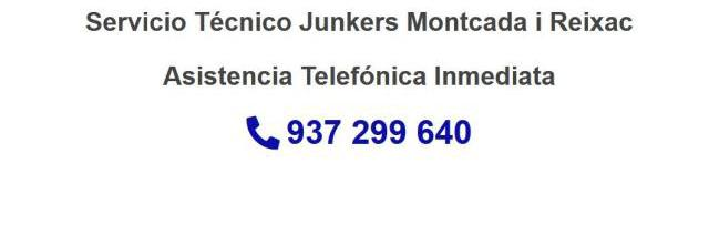 Servicio Técnico Junkers Montcada i Reixac 934242687