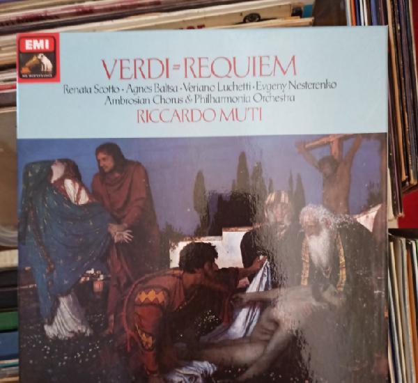 Verdi, riccardo muti - requiem (emi, box 2 x vinyl, uk,
