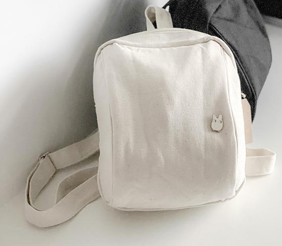 Verano mini organic canvas backpack boho minimalista casual