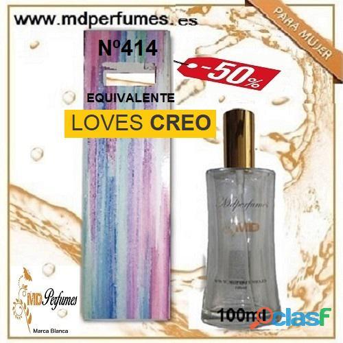 Oferta 10€ Perfume Mujer LOVES CREO nº414 Alta Gama Equivalente 100ml