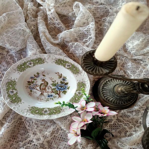 Plato antiguo porcelana ridgway