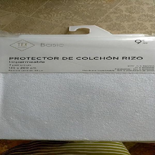 Protector colchón impermeable 135x200