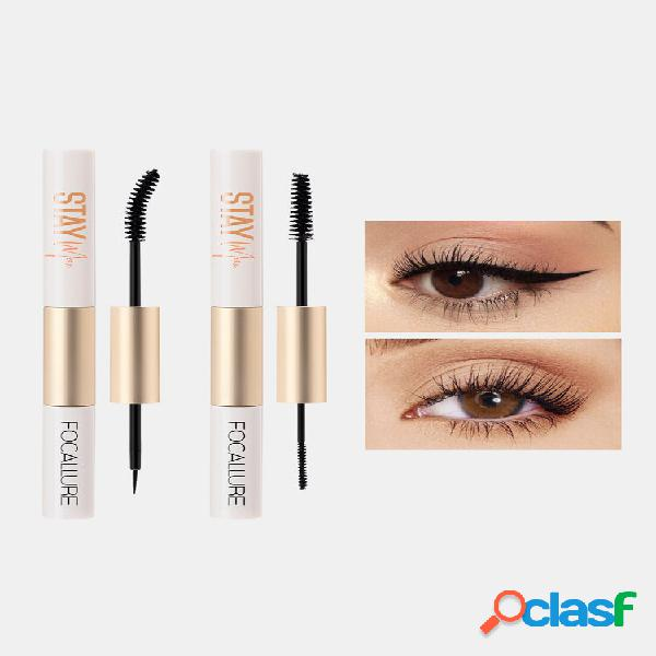 2 colors 2 in 1 eyeliner mascara thick curling waterproof non-fade eye makeup