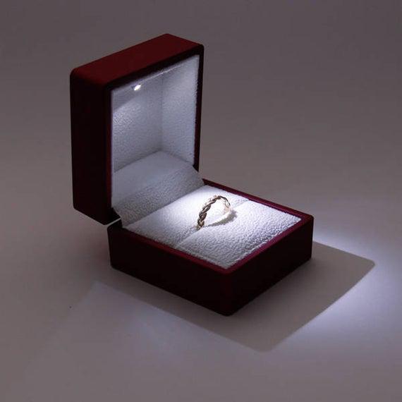 Caja de anillo de compromiso, caja de anillo de propuesta,
