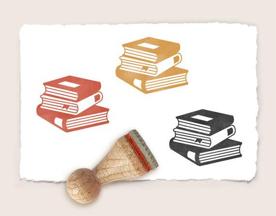 Mini sello de goma libros de 15 mm / 0,59 pulgadas