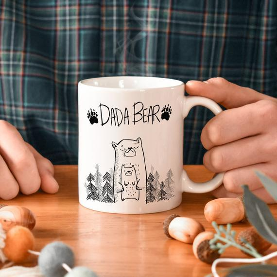 Taza de oso dadaífio, taza de papá, oso dadaífio, taza de