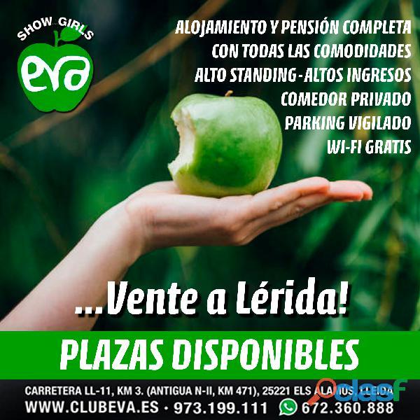 ATENCION! ULTIMAS PLAZAS CLUB EVA LERIDA 672360888