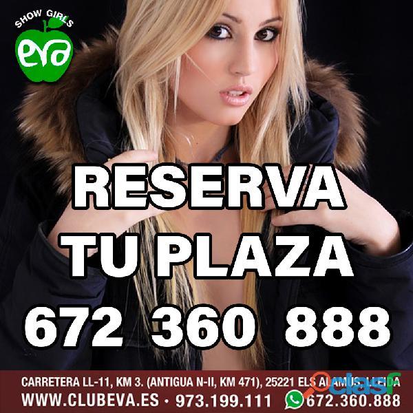 Reserva tu plaza hoy mismo en club eva 672360888