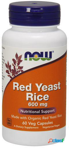 Now foods red yeast rice 600 mg cápsulas 60 unidades
