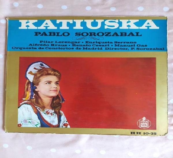 Katiuska, pablo sorozabal, hispavox, 1958, pilar lorengar,