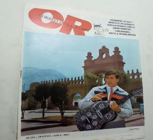 Revista musica correo de la radio 206 abril 1965 aznavour