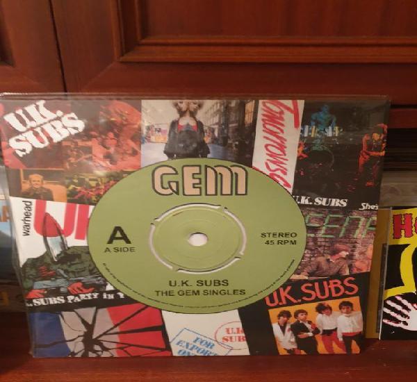 Uk subs / the gem singles / gatefold / demon records 2016