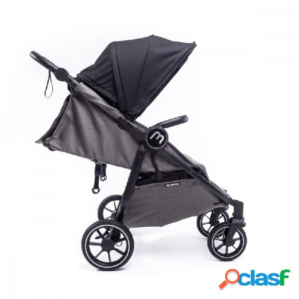 Baby monsters - silla gemelar baby monster easy twin 4 chasis negro y capotas forest
