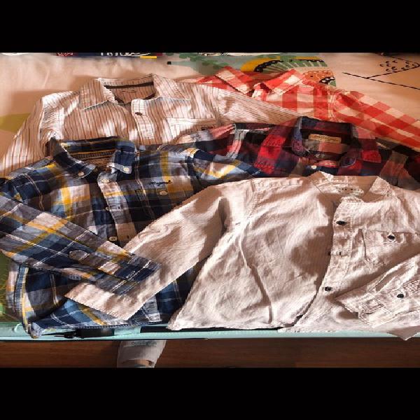 Camisas varias marcas talla 3-4