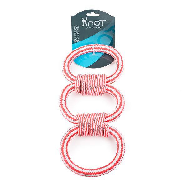 Juguete cuerda dental knot limit bowline 3 rings