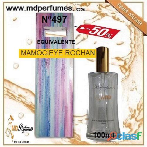 Oferta 10€ Perfume Mujer MAMOCIEYE ROCHAN nº497 Alta Gama Equivalente 100ml