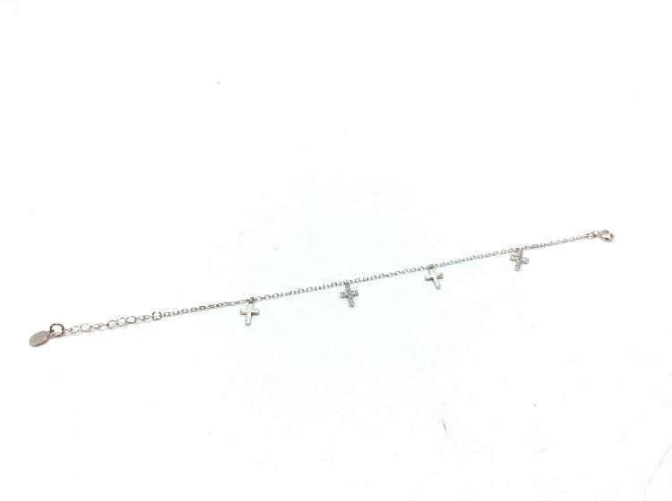 Pulsera plata primera ley (plata 925mm con piedra)
