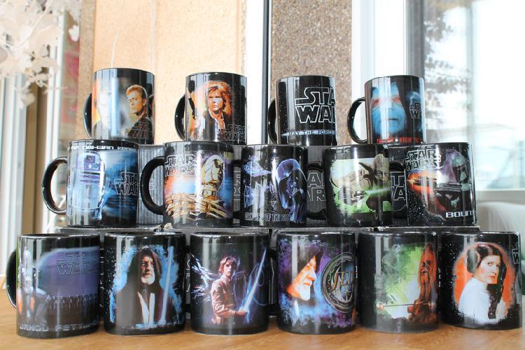 Coleccion de tazas nuevas de star wars 5є cada una