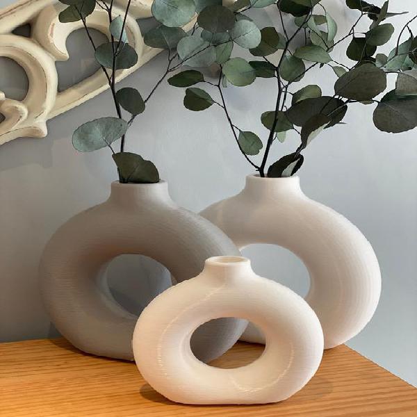 Donut vase | nordic | flat vase | minimalist | dried flowers