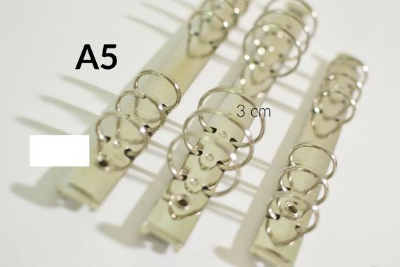 Mecanismo a5 anillos planificador, anillos de 3 cm,
