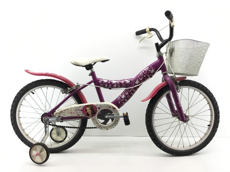 Bicicleta niño disney violeta