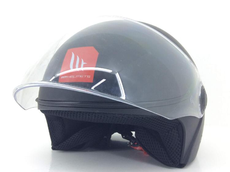 Casco jet mt helmets street solid gloss black