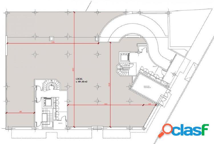 Local obra nueva 400 m2 cerca estación
