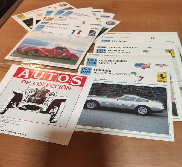 Coleccion de fichas tecnicas de vehiculos,autos coleccion 61